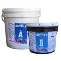 Water borne epoxy. Coating for chips.